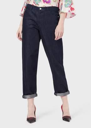 Emporio Armani J89 Boyfriend Jeans In Denim