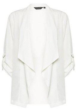 Dorothy Perkins Womens Ivory Waterfall Jacket, Ivory