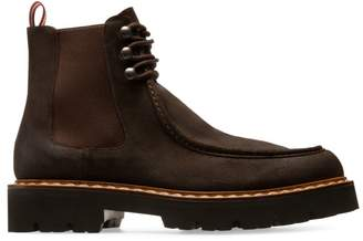 Bally Lyons Suede Loafer Chelsea Boots