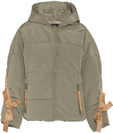 Maje Hooded Grosgrain-trimmed Quilted Faille Jacket
