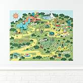 Theme Park Map Poster Decal