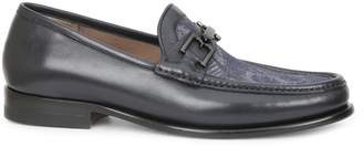 Bruno Magli Enzo Printed Leather Loafers