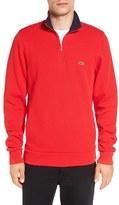 Lacoste Men's Quarter Zip Sweatshirt