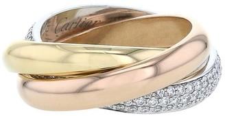 Cartier 18kt gold diamond Trinity medium ring