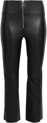 Sprwmn Zip-detailed Stretch-leather Kick-flare Pants