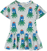 Little Marc Jacobs Printed slubbed jersey dress