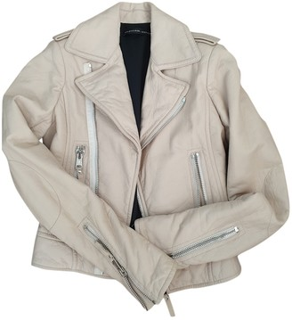 Balenciaga Beige Leather Jackets