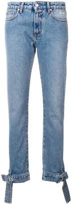 MSGM bow-cuff jeans
