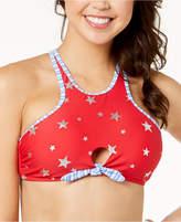 California Waves Juniors' Americana High-Neck Bikini Top, Created for Macy's