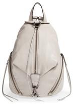 Rebecca Minkoff Medium Julian Leather Backpack - Grey