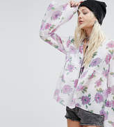 Reclaimed Vintage Inspired Smock Top In Floral Chiffon
