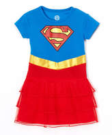 Intimo Supergirl Blue & Red Ruffle Nightgown - Toddler & Girls