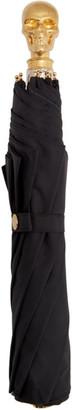 Alexander McQueen Black and Gold Skull Folded Umbrella