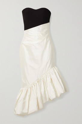 Rasario Ruffled Asymmetric Silk-blend Shantung And Cady Dress - Ivory