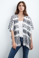 Araceli Embroidered Cotton Kimono Cardigan
