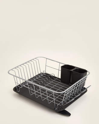 Farberware 3-Piece Black & Silver Compact Dish Drying Rack