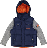 Weatherproof Navy Pocket Layered Hooded Puffer Coat - Boys