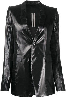 Rick Owens Shine-Finish Single Breasted Blazer