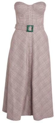 Rotate by Birger Christensen Strapless Check Dress