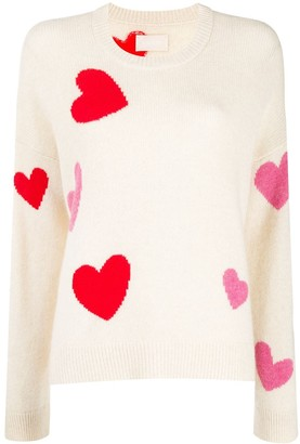 Zadig & Voltaire Heart pattern knitted jumper