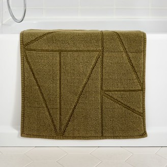 west elm Organic Triangle Sculpted Bath Mat