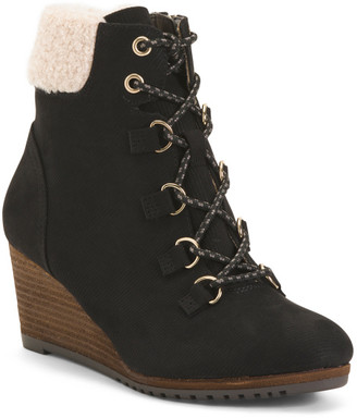 Comfort Wedge Boots