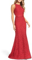 Mac Duggal Women's Cutout Lace Gown