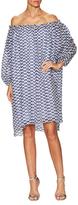 Tanya Taylor Broken Twill Asymmetrical Shift Dress