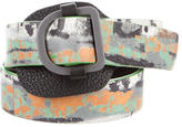 Balenciaga Printed Leather Belt
