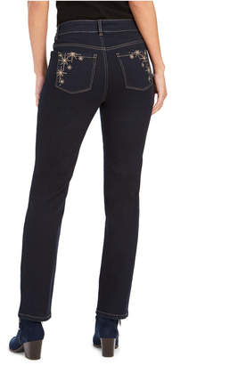 Style&Co. Style & Co Petite Straight-Leg Bling Pocket Jeans