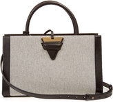 Loewe Barcelona canvas and leather tote
