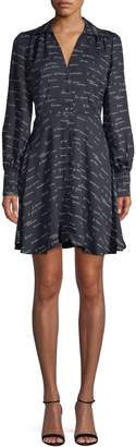 Joie Printed Long-Sleeve Shirtdress