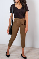 Ichi Belted High-Waisted Trousers