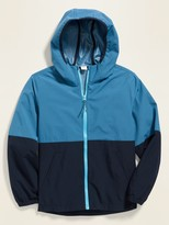 Old Navy Color-Blocked Built-In Flex Hooded Zip Jacket for Boys