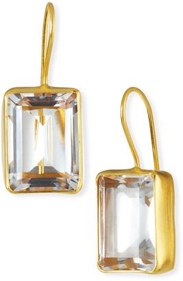 Dina Mackney Emerald-Cut Quartz Drop Earrings