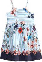 Bonnie Jean Striped Floral-Print Dress, Toddler Girls