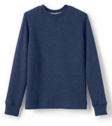 Classic Little Boys Solid Waffle Crew-Slate Heather