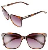 Ted Baker Women's 54Mm Gradient Lens Square Sunglasses - Black