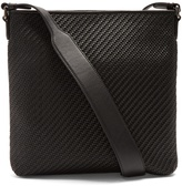 Ermenegildo Zegna Pelle Tessuta leather cross-body bag