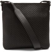 Ermenegildo Zegna Pelle Tessuta leather messenger bag