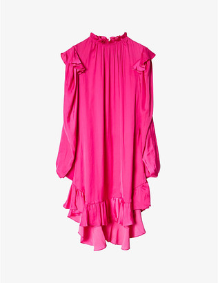Zadig & Voltaire Ruins ruffle-trimmed satin dress