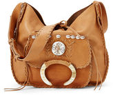 Ralph Lauren Hand-Laced Leather Hobo Bag