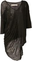 Raquel Allegra asymmetric draped top - women - Cotton/Polyester - 3