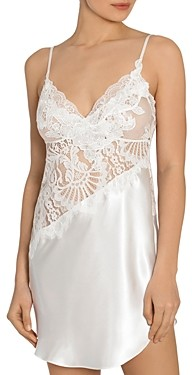Jonquil Asymmetric Lace Chemise Nightgown
