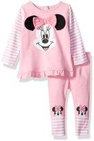 Disney Baby Girls' Minnie Mouse 2 Piece Top Big Face Set