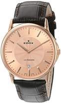 Edox Men's 56001 37R ROIR Les Bemonts Analog Display Swiss Quartz Brown Watch