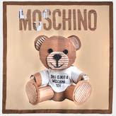 Moschino Teddy bear silk square runway