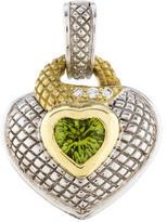 Judith Ripka Two-Tone Peridot & Diamond Heart Pendant