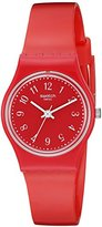 Swatch Women's LR127 Originals Analog Display Swiss Quartz Red Watch