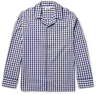 Sleepy Jones Henry Gingham Cotton Pyjama Shirt
